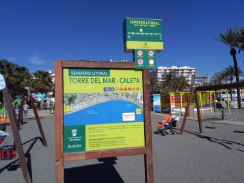 Sendero litoral: Torre del Mar - Caleta
