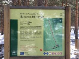 Sendero Barranco del Hornillo - Sendero Accesible