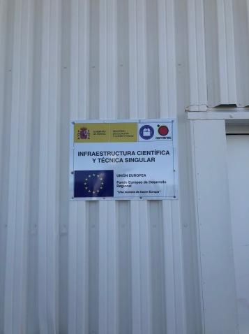 Cartel de la instalación.