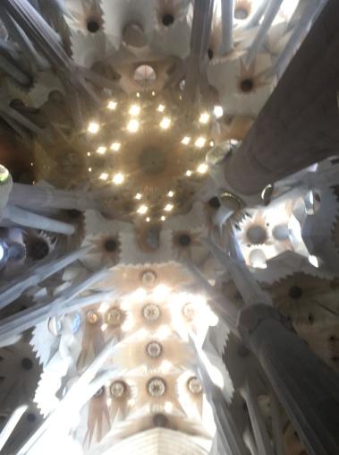 Parte superior de la Sagrada Familia