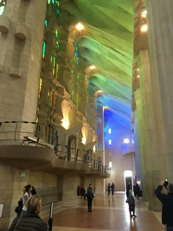 Efectos de luz en la Sagrada Familia