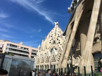 Exterior de la Fachada de La Pasión de la Sagrada Familia