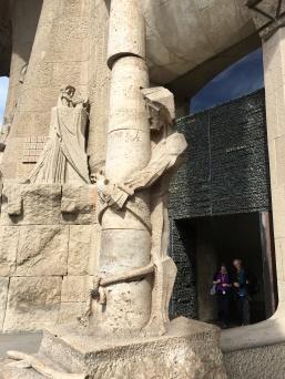 Detalle de la Fachada de la Pasión de la Sagrada Familia
