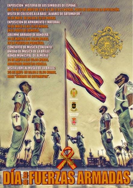 dia de las fuerzas armdas en Almería
