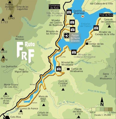 Mapa ruta Félix Rodríguez de la Fuente
