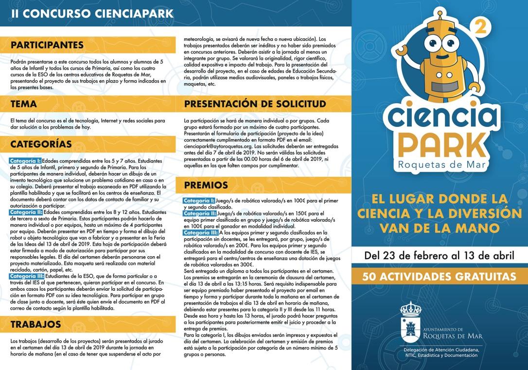 PORTADA Triptico Ciencia Park