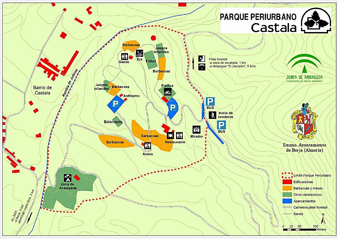 Resultado de imagen de plano parque periurbano de castala consejeria de medio ambiente