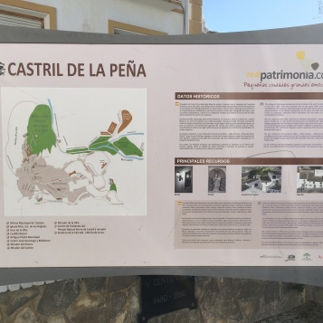 Cartel informativo de Castril